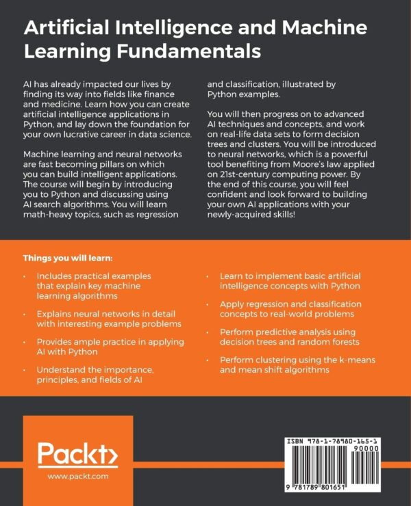 artificial intelligence and machine learning fundamentals back cover