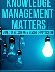 front cover of knowledge management matters
